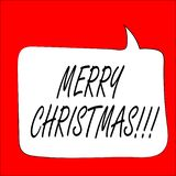 Illustraation di vettore carta gretting con il Buon Natale del testo immagini stock libere da diritti