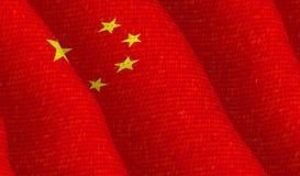 Illustraion chińczyk flaga Zdjęcia Royalty Free