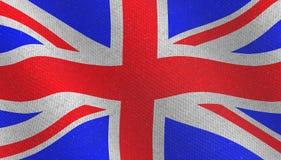 Illustraion d'un drapeau britannique volant illustration stock