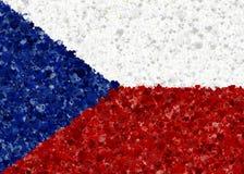Illustraion da bandeira checa com um teste padrão do coração Ilustração Royalty Free