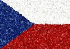 Illustraion da bandeira checa com um teste padrão da flor Ilustração Royalty Free