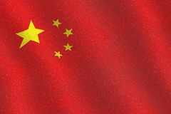 Illustraion de uma bandeira do chinês do voo Imagens de Stock Royalty Free