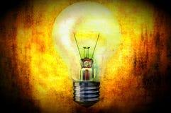 Illustraion di concetto della lampadina Immagini Stock
