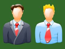 Illustraion of different office workers view front Stock Photos