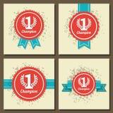 Illustraion of flat design award signs. Set Stock Image