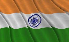Graphic illustraion of Indian Flag royalty free stock images