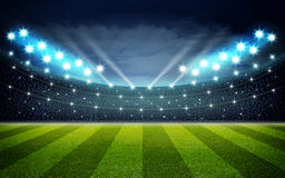 Illustraion of soccer stadium royalty free illustration