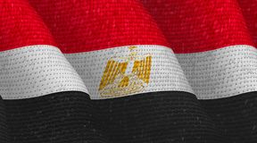 Illustraion van een vliegende Egyptische Vlag vector illustratie