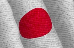 Illustraion van een vliegende Japanse Vlag Stock Foto's