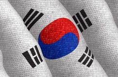 Illustraion van een vliegende Vlag van Zuid-Korea stock illustratie