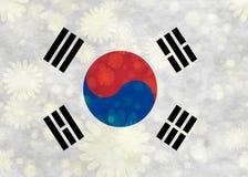 Illustraion van Koreaanse Vlag royalty-vrije illustratie