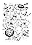 Illustraition of kitchen utensil Royalty Free Stock Image