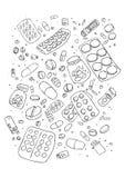 Illustraition of various pills