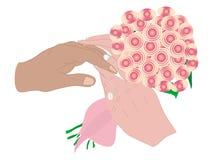 Illustrarion van het ruilen van trouwringen Vector Illustratie