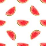 Illustrartion di vettore della fetta dell'anguria dell'acquerello Alimento crudo della frutta Fotografie Stock