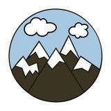 Illustrartion do vetor do Mountain View ilustração royalty free