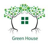 Illustrasi绿色设计或温室 免版税库存图片