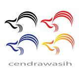Illustrasi Birds Cendrawasih from West papua Indonesia. Illustrasi Birds Cendrawasih in the coloring. Good for logo cool and elegant Royalty Free Stock Photography