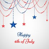Illustrastion of 4th of July background. Illustration of elements of 4th of July background on the occasion of USA independence Stock Photos