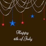 Illustrastion of 4th of July background. Illustration of elements of 4th of July background on the occasion of USA independence Royalty Free Stock Images
