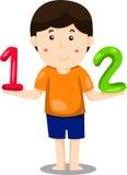 Illustratör av pojke 123 Arkivbilder