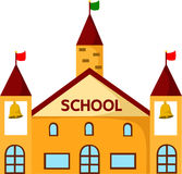 Illustratör av skolabyggnader Royaltyfri Foto