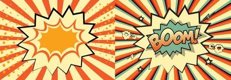 illustratör för format för eps för extra bok för bakgrund 8 komisk Arkivbild