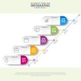 Illustrat del grafico del modello degli elementi di progettazione di infographics di affari Fotografie Stock