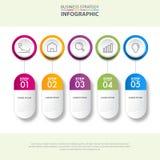 Illustrat del grafico del modello degli elementi di progettazione di infographics di affari Fotografia Stock