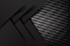 Illustrat foncé et noir de fond abstrait de carbone de fibre de vecteur illustration stock