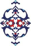 Illustrat turco da telha do otomano antigo tradicional Imagem de Stock