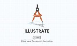 Illustrate Create Imagination Ideas Artistic Concept Stock Image
