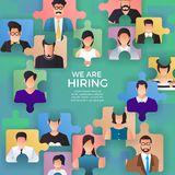 Illustrate design concept The finding employee. HR job seeking. Vector illustrate Royalty Free Stock Photography