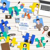 Illustrate design concept The finding employee. HR job seeking. Vector illustrate. Royalty Free Stock Photography
