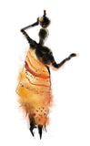 Illustrated abstract African woman Stock Photography