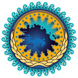 Illustrated abstract emblem. Stock Photos