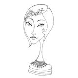 Illustrated abstract girl Royalty Free Stock Images