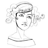 Illustrated abstract girl Stock Image