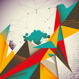 Illustrated abstract layout. Stock Images