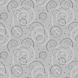 Illustrated abstract seamless background with spirals. Illustrated abstract seamless background with gray and white spirals, repeat pattern Stock Photos