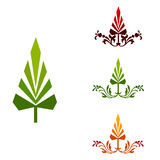 Illustrated abstract tree icons Stock Photography