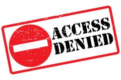 Access denied sign. An illustrated access denied sign on a white background Royalty Free Stock Image