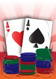Illustrated Aces Royalty Free Stock Image