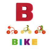 Illustrated alphabet.  Illustration of the letter B Stock Photography