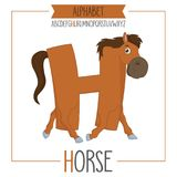 Illustrated Alphabet Letter Hand Horse. Eps 10 Royalty Free Stock Images