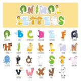 Illustrated Animal Letters. Eps 10 Royalty Free Stock Photo