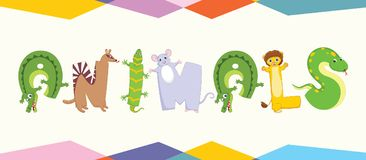 Illustrated Animal Letters. Eps 10 Royalty Free Stock Images