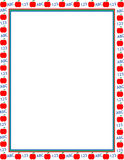 Illustrated apple border. Illustrated frame border with red apples, ABC and 123. Use for school, awards, newsletter or fliers vector illustration