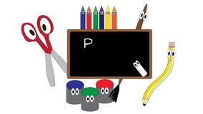 Back to School on art supplies banner
