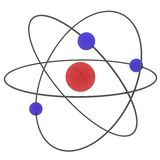 Illustrated atom Stock Photography